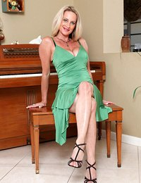 Charming milf shows her..